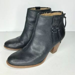 Jack Rogers Black Western Ankle Boots